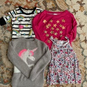 Lot of 4 girls tops